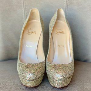 Christian Louboutin Shoes - 💯🆑👠 BIBI 140 GLITTER MULTICOLOR PLATFORM PUMP